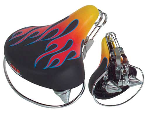 Beach Cruisers Saddle Web Spring Flames