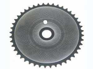 SPROCKET DIAMOND HA-30 44T CHROME/BLACK