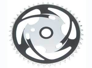 SPROCKET JS77 44T CHROME/BLACK
