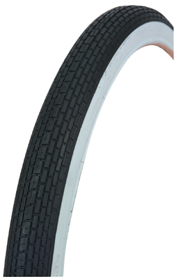 "TIRE 16"" X 1.75"" BLACK/WHITE 120A"